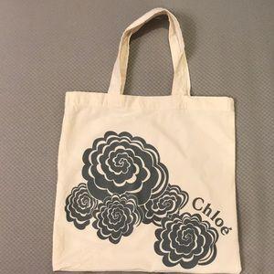 Chloe flat cotton tote bag